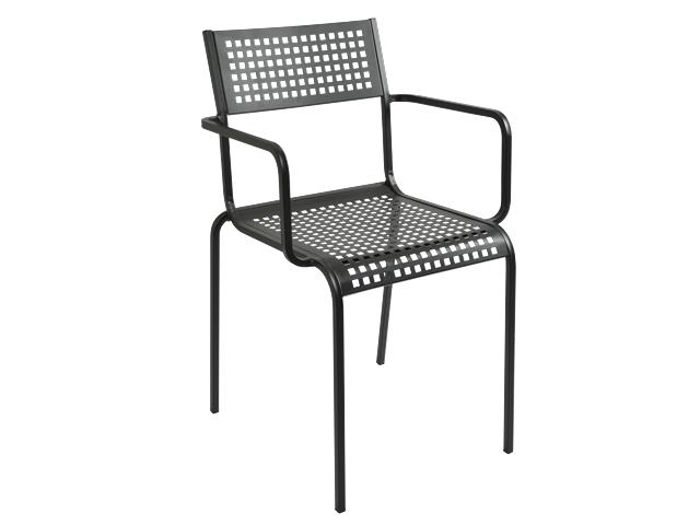 Metalowe krzesło ażurowe do ogródka Monella