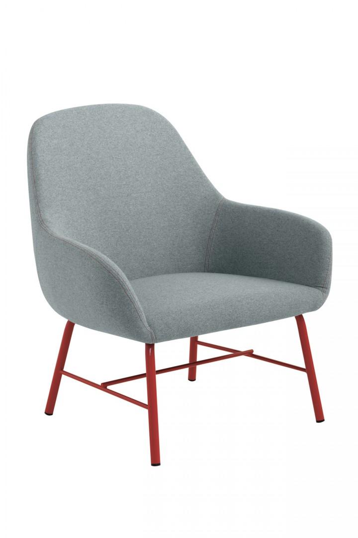 Fotel z tkaniny Myra Metalmobil