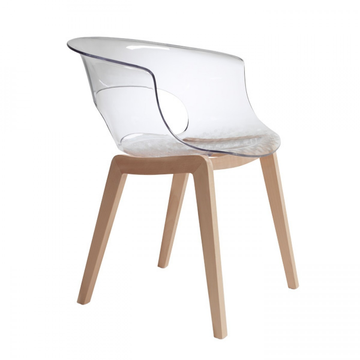 Krzesło Miss B Natural Scab Design przezroczyste