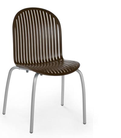 Krzesło Ninfea Nardi brązowe caffe kawowe