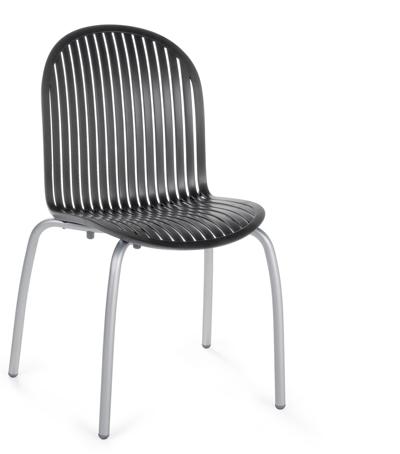 krzesło Ninfea Nardi czarne antracytowe