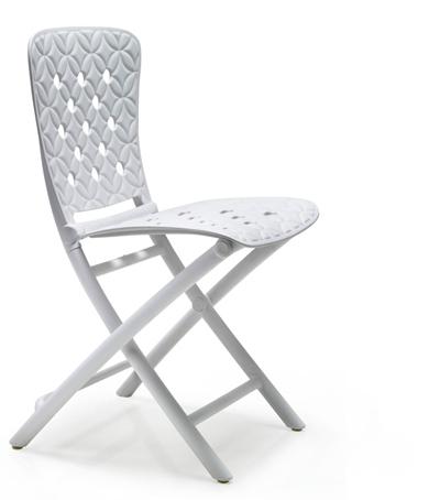 Białe krzesło składane ZIC spring nardi