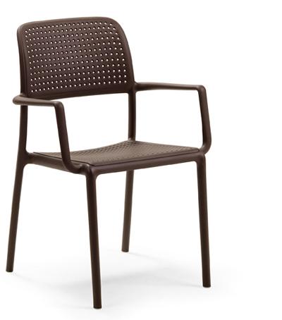 Krzesło Bora Nardi brązowe kawowe