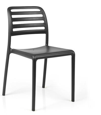 Krzesło costa bistrot czarne Nardi