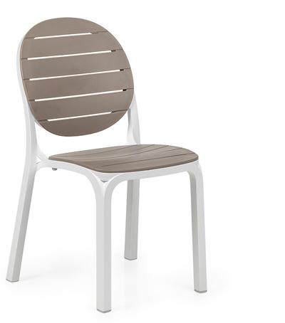 Krzesło Erica białe tortora Nardi