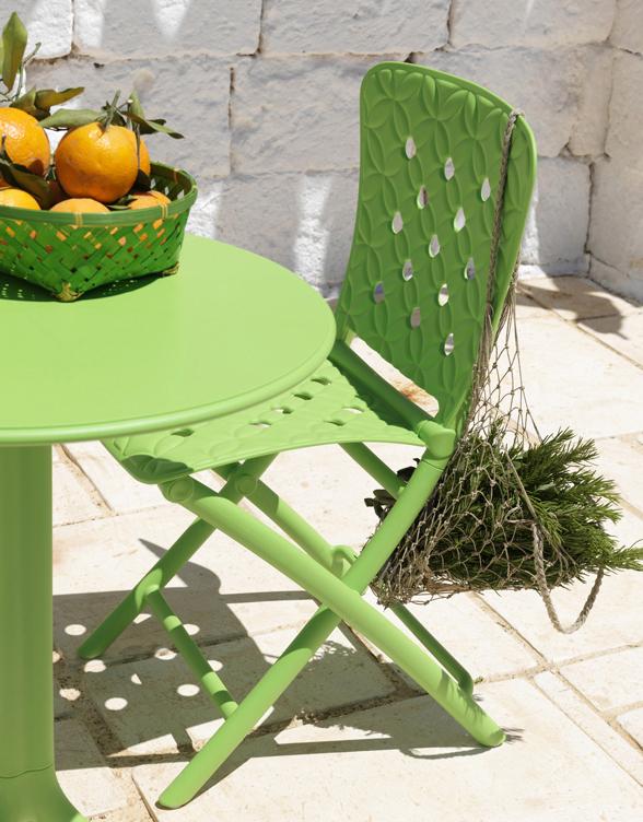 białe krzesło na balkon składane ZAC Nardi