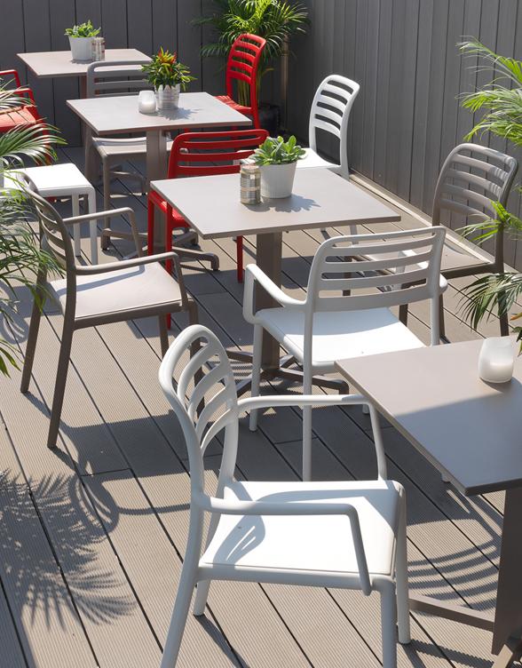 Krzesło nardi do ogródka restauracji