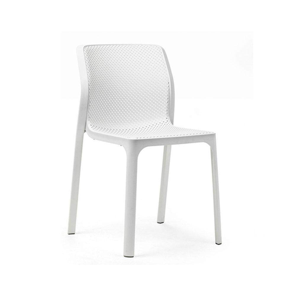 Krzesło ażurowe ogrodowe białe Bit Nardi