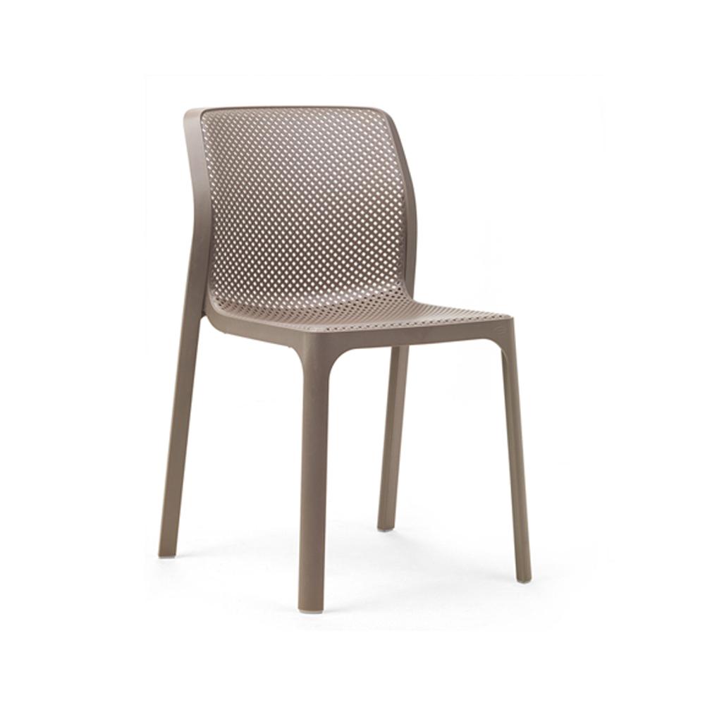 Ażurowe krzesło z tworzywa ogrodowe BIT tortora Nardi