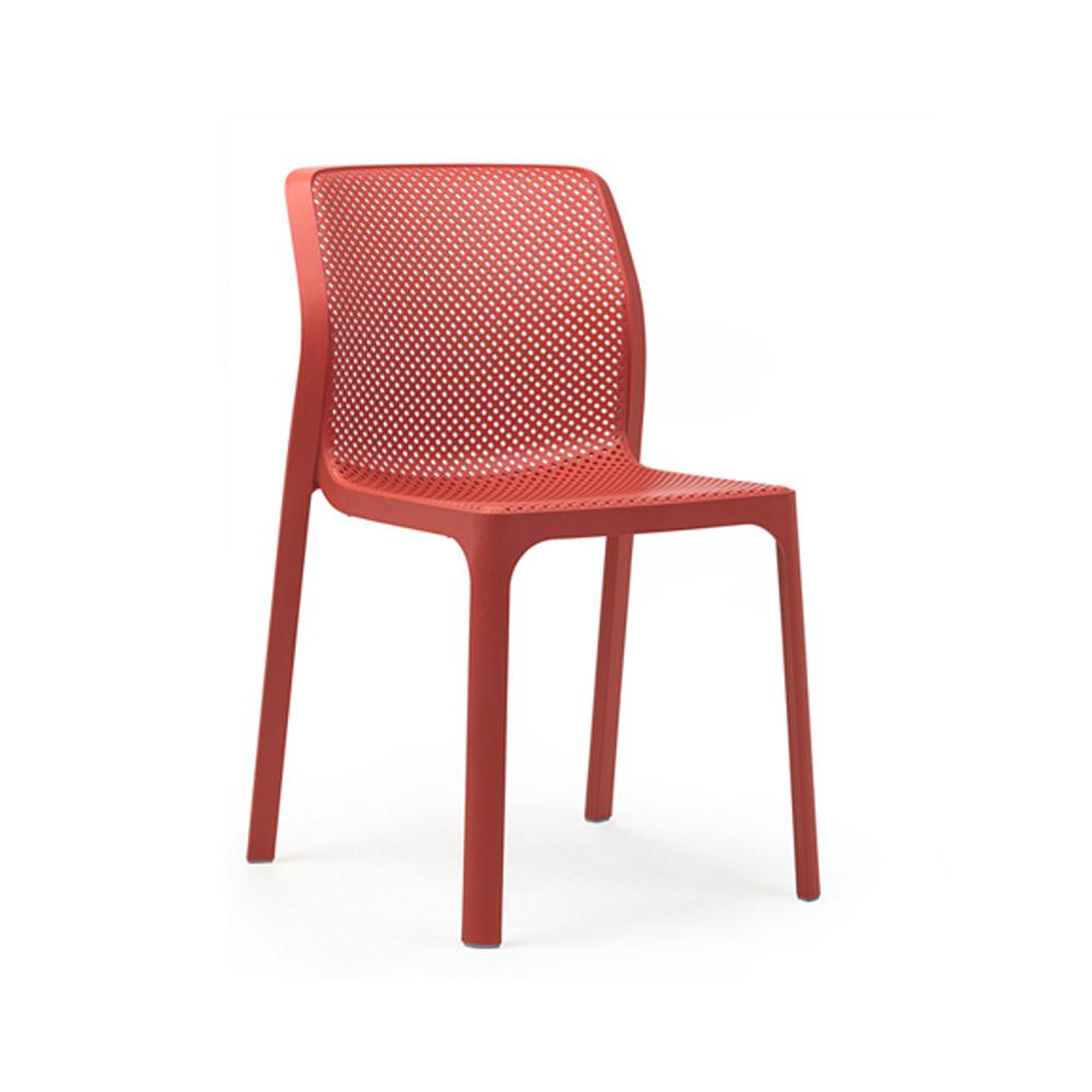 Krzesło do ogrdowu BIT Nardi corallo czerwone