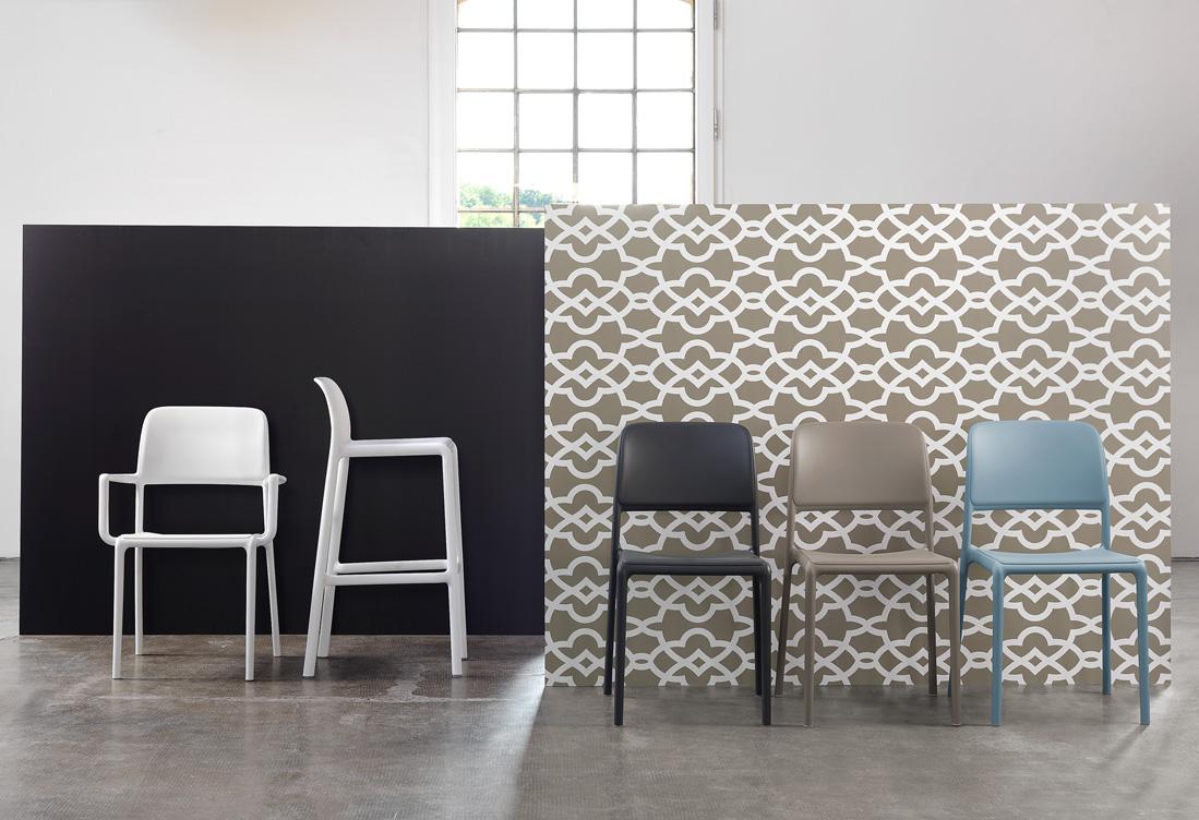 Riva Bistrot, krzesło włoskie nardi, czarne krzesło do kawiarni