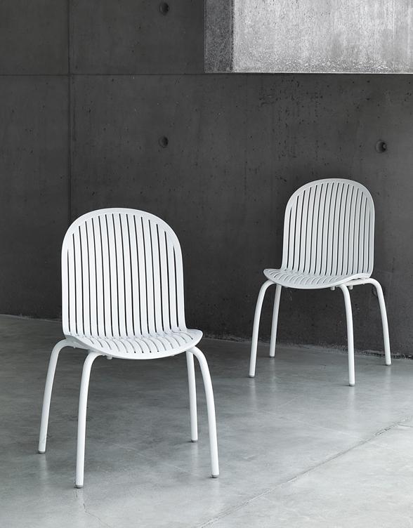 Białe krzesło Ninfea Nardi