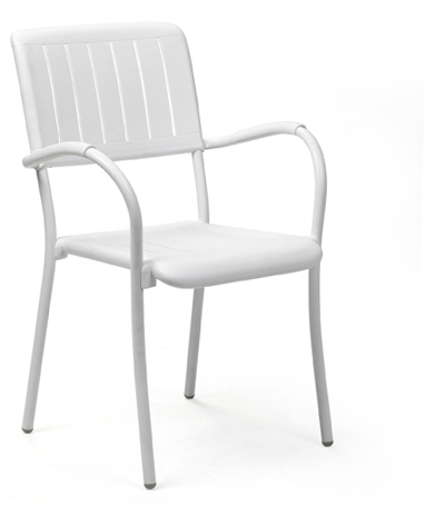 Krzesło białe MUSA Nardi do kawiarni i restauracji, taras