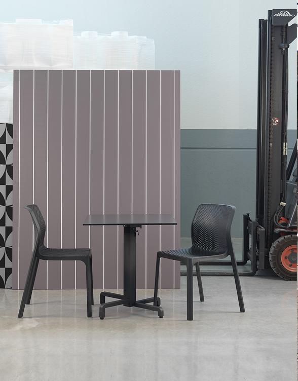 Krzesło do kawiarni z tworzywa ażurowe BIT Nardi