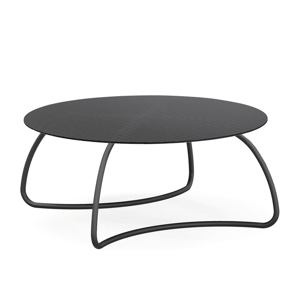 Czarny stół ogrodowy ze szklanym blatem Loto Dinner 170 Nardi