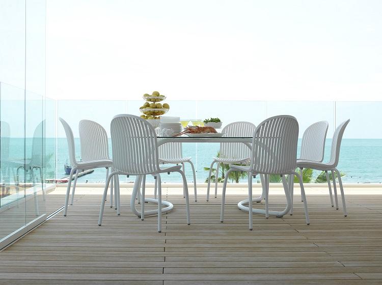Stół do ogrodu Loto 120 nardi biały