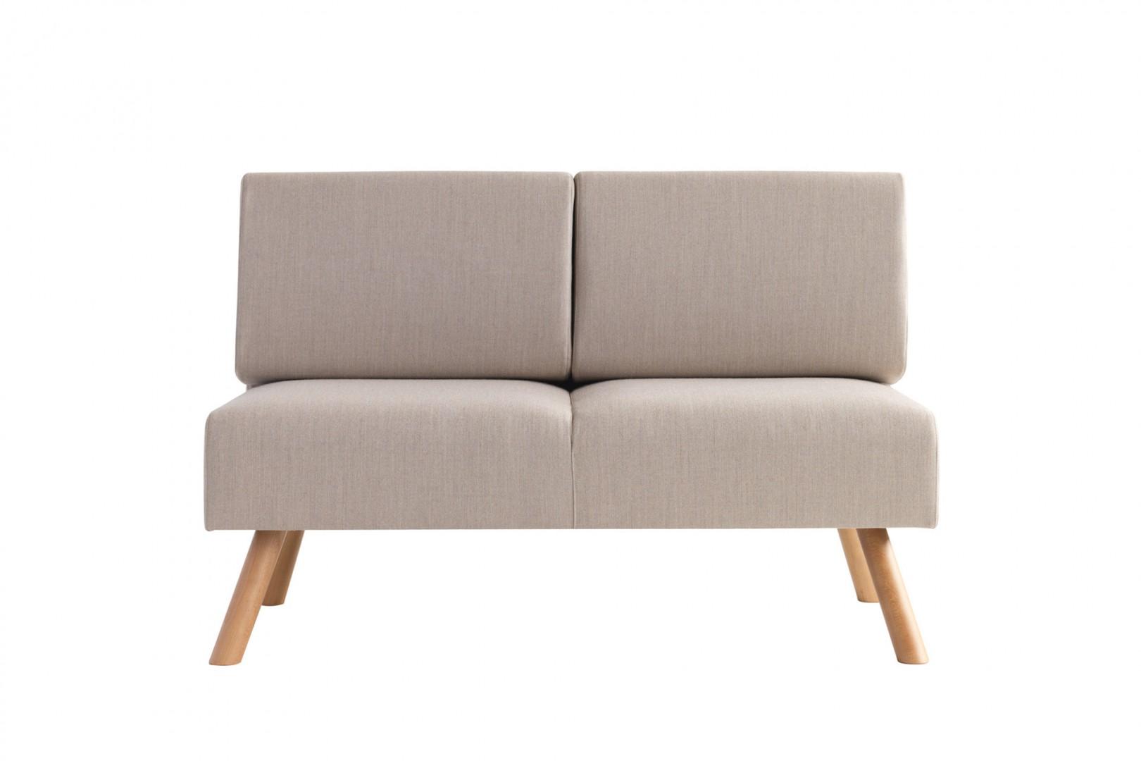 Sofa do restauracji na drewnianych nogach NOMAD Et Al.