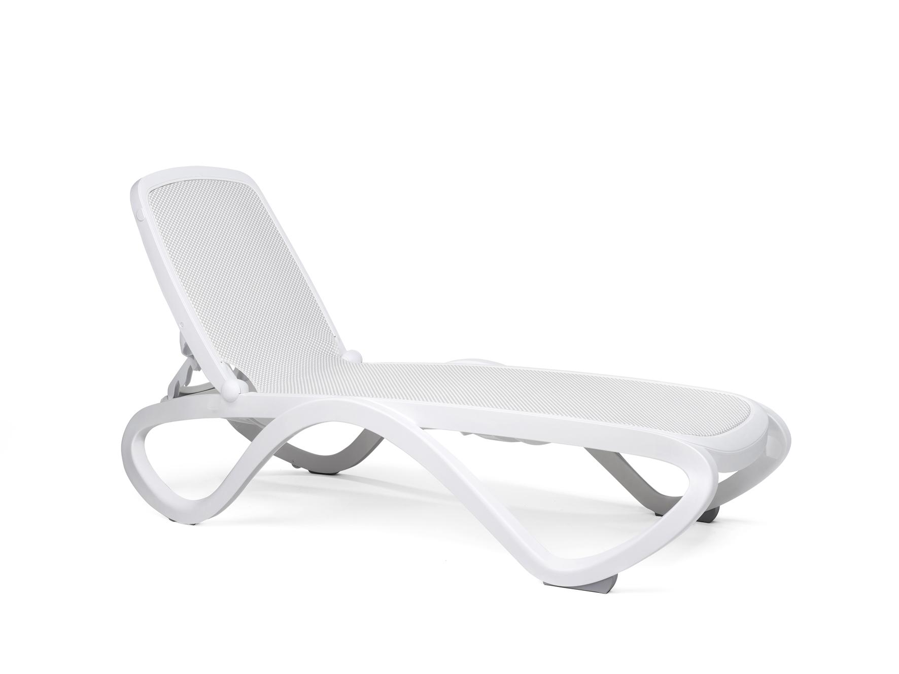 leżak Omega biały basenowy nardi