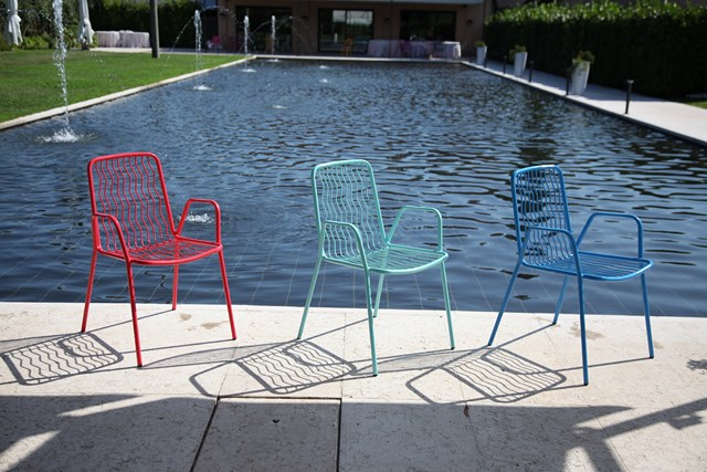 Krzesło designerskie metalowe ONDA RD ITALIA