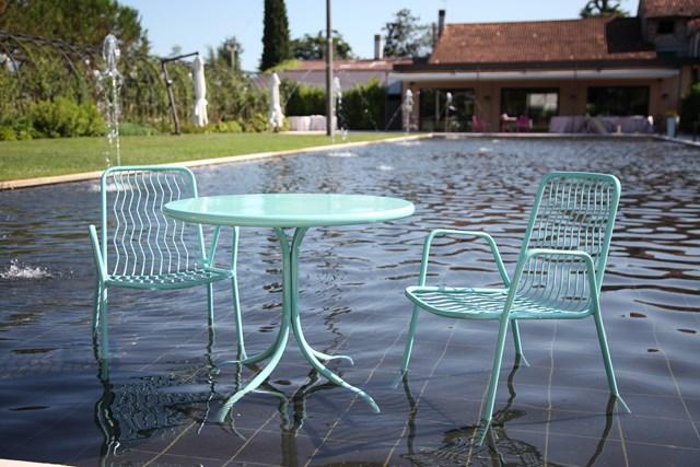 Krzesło do kawiarni metalowe ONDA