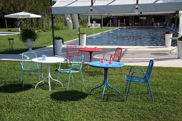 Włoskie krzesło ogrodowe ONDA do restauracji