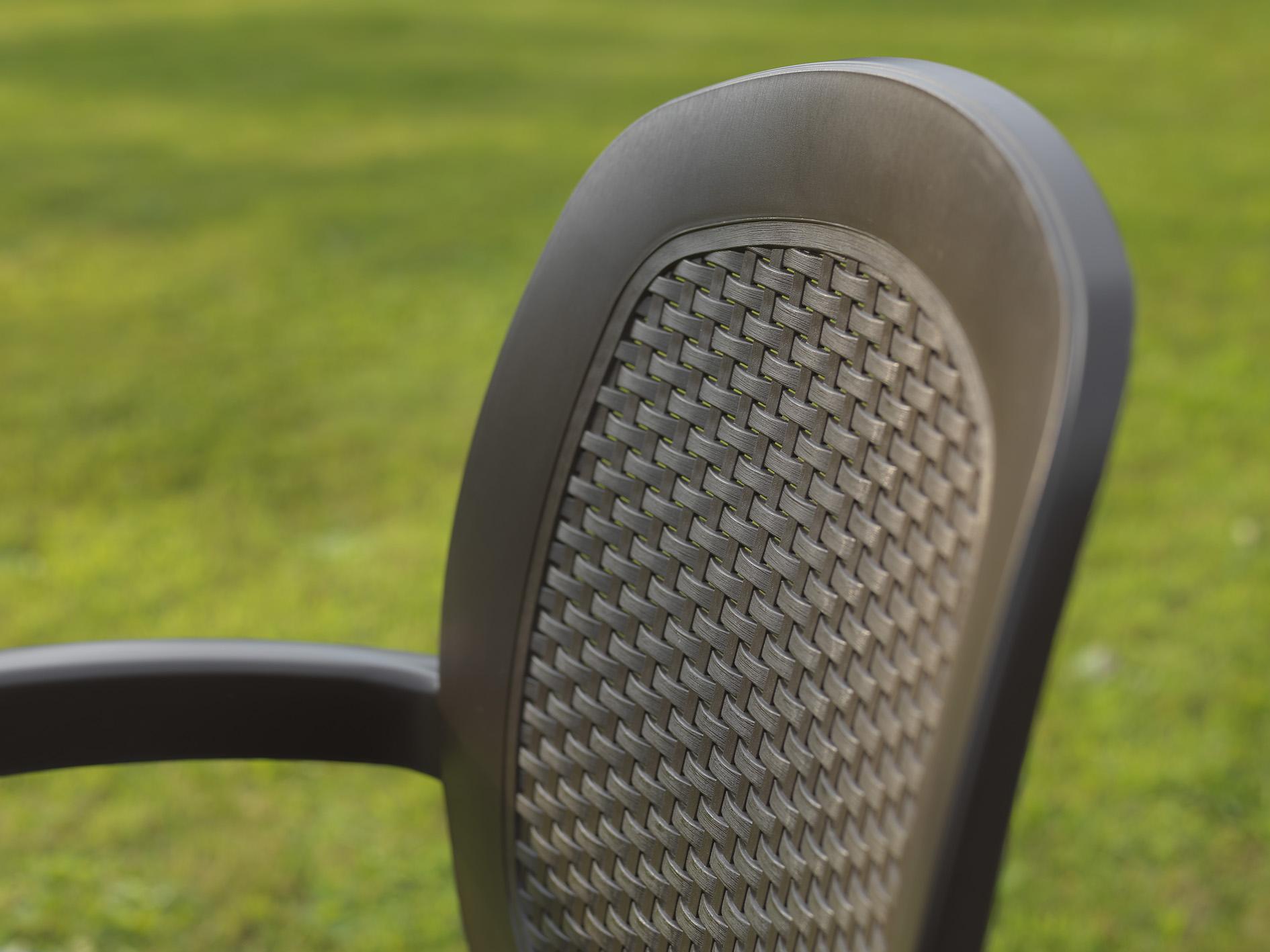 krzesło ogrodowe creta wicker nardi oparcie z siatki