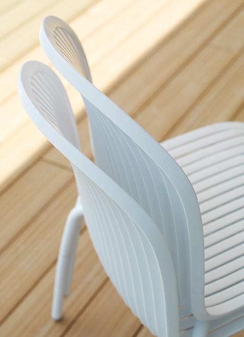 Krzesło na taras Ninfea białe Nardi