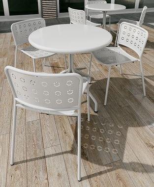 krzesło metalowe do ogródka kawiarni POP