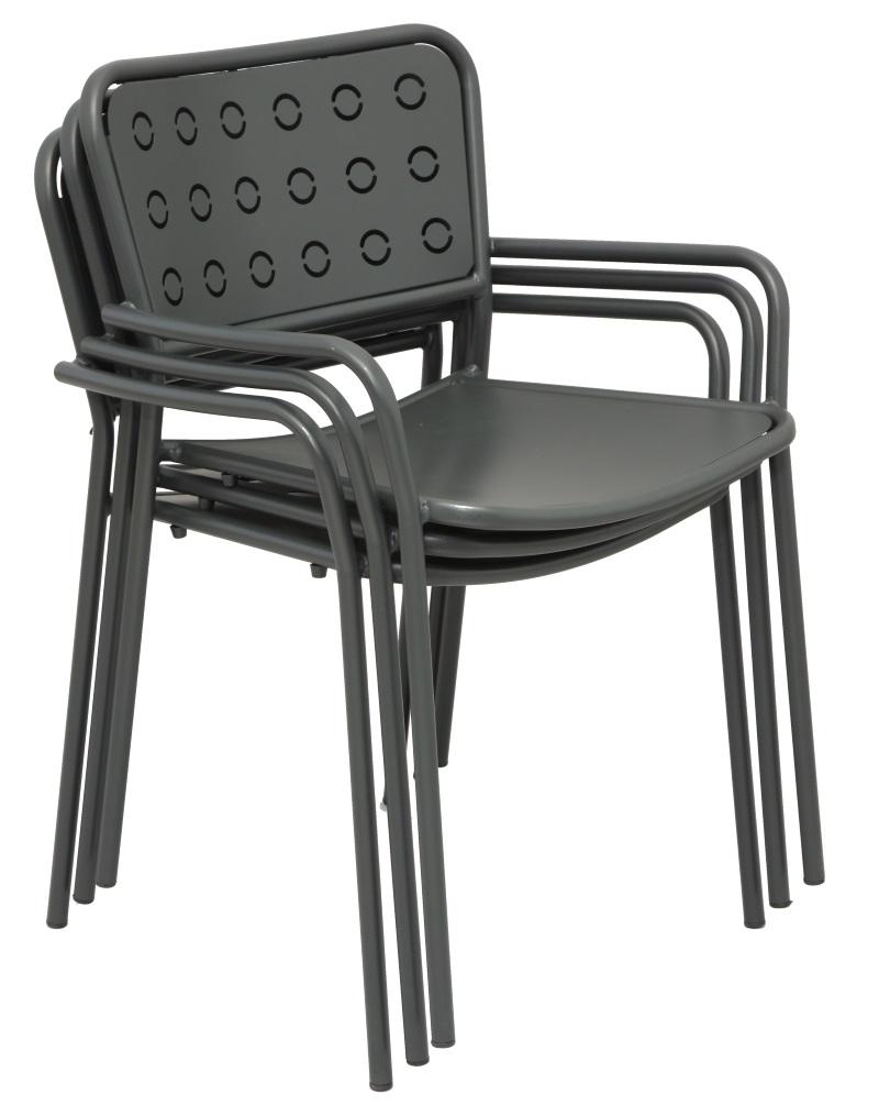 Krzesło metalowe do kawiarni POP RD Italia