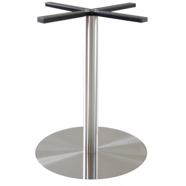 podstawa do stołu INOX okrągła stal szczotkowana