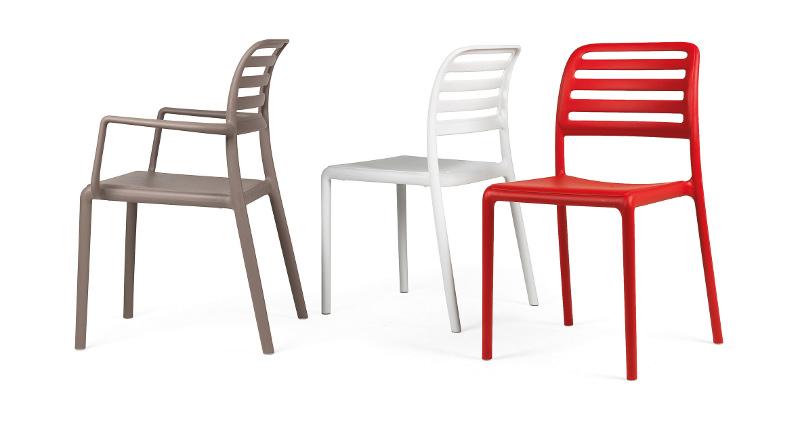 krzesło do kawiarni białe costa nardi
