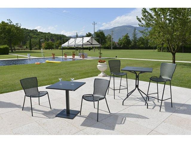 Metalowe krzesło do ogródków letnich ażurowe SONIA