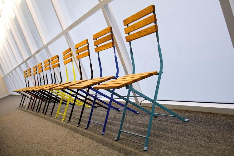 Krzesło składane metalowo-drewniane Stella RONDO
