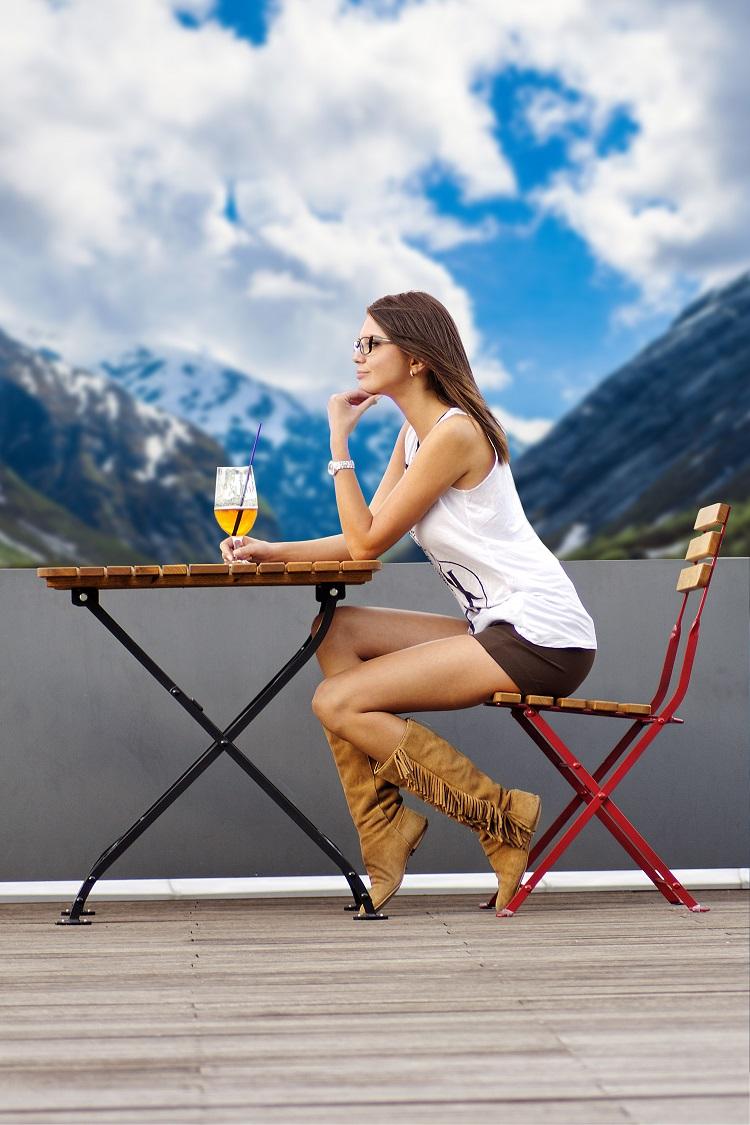 Krzesło składane ogrodowe do kawiarni i restauracji Stella
