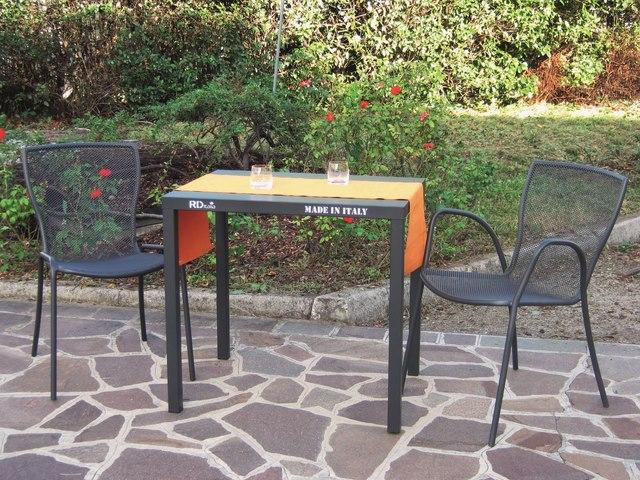 Krzesło ogrodowe do restauracji metalowe SYRENE