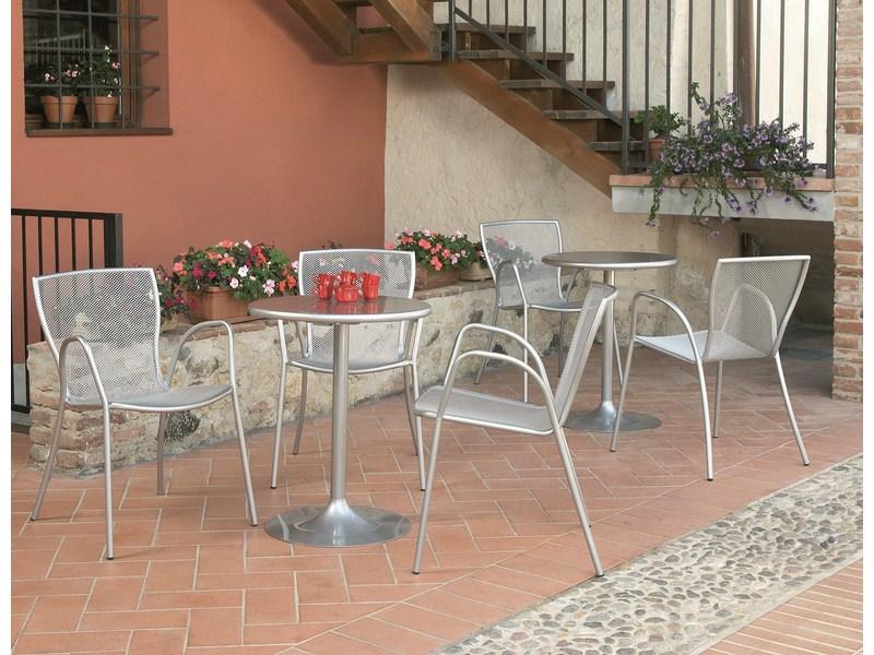 Metalowe krzesło ogrodowe do restauracji SYRENE RD Italia