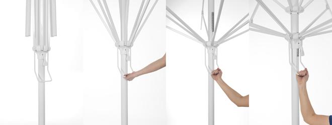system rozkładanie parasoli litex