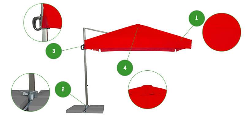 parasol boczny RIO Litex
