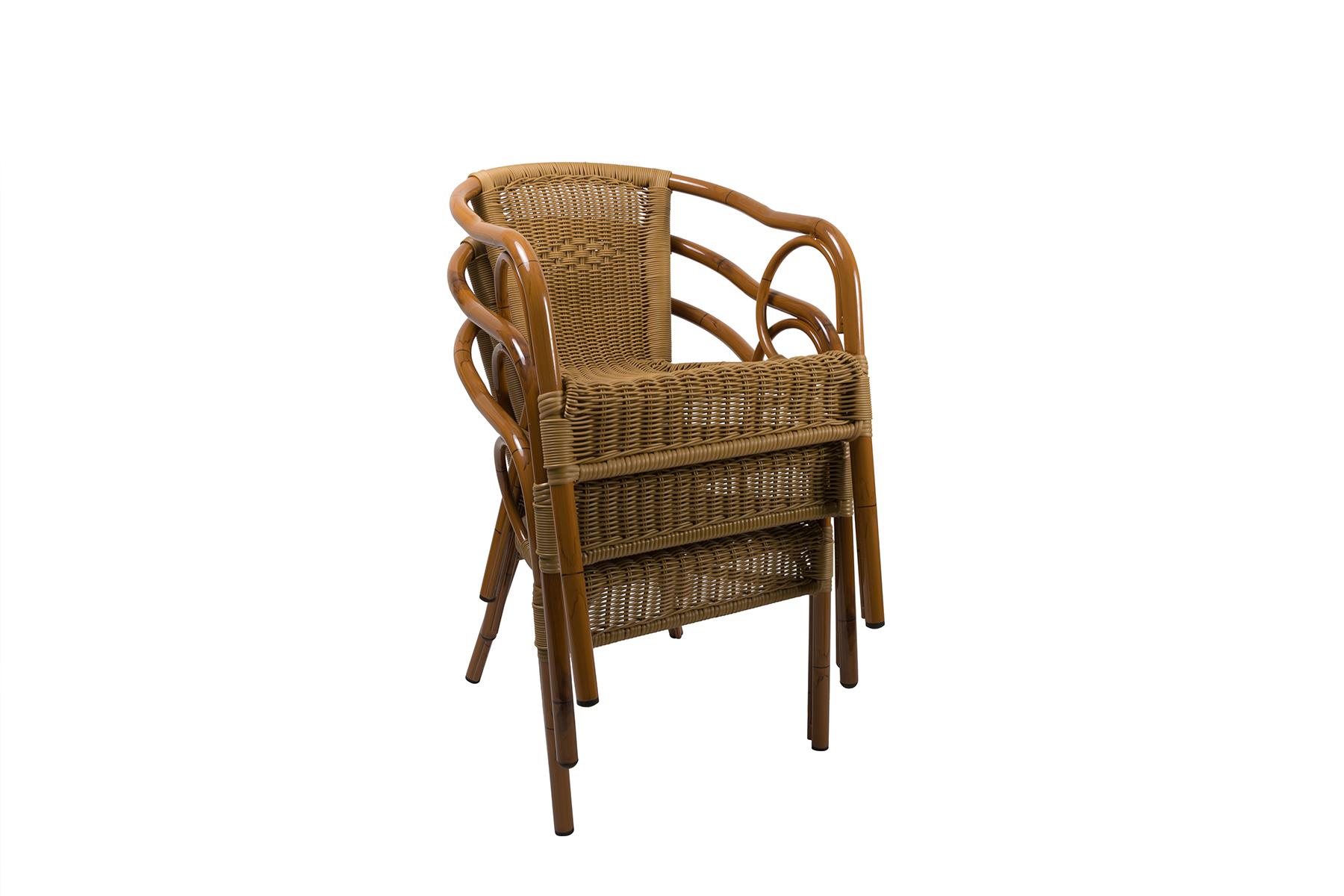 krzesło z technorattanu składane w stos