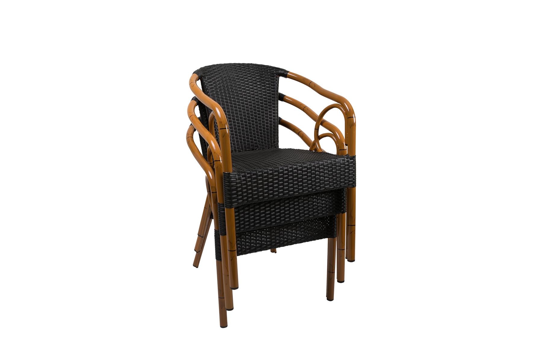 krzesło z technorattanu costa mocca do sztaplowania