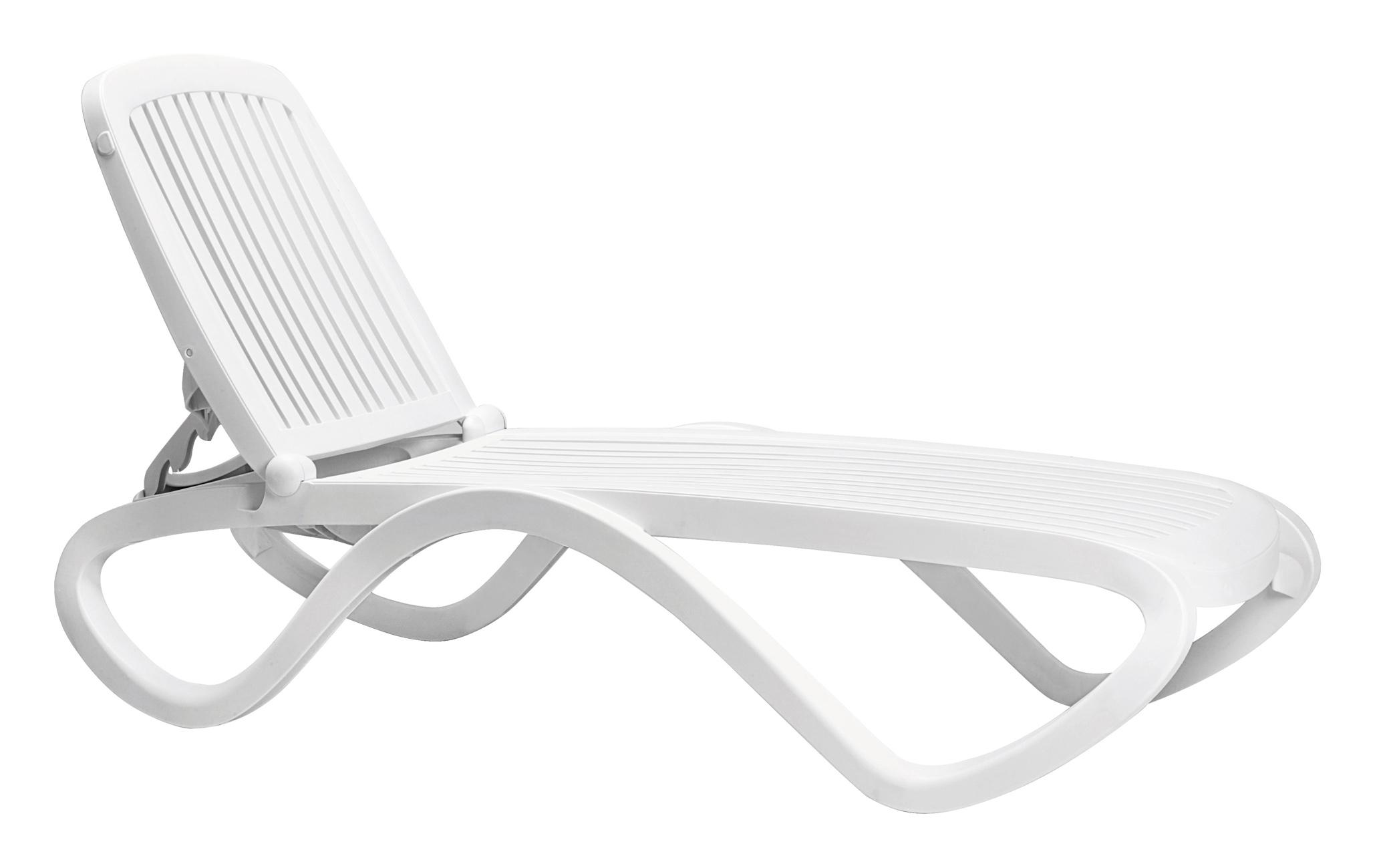 Leżak ogrodowy tropico nardi biały