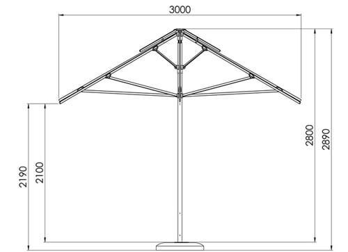 wymiary parasola Rodos Litex