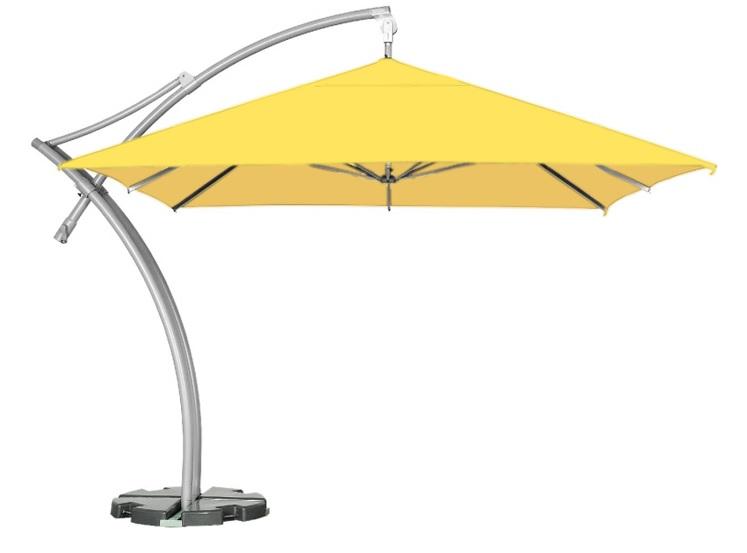 żółty parasol do ogrodu litex ibiza