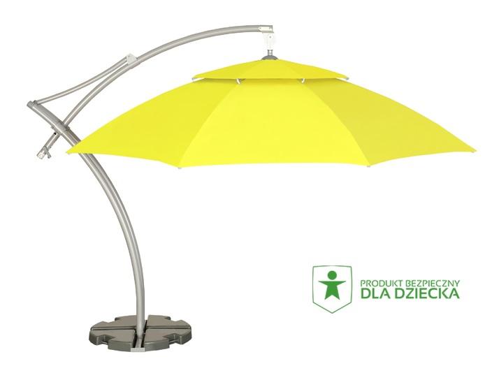 zółty parasol ogrodowy
