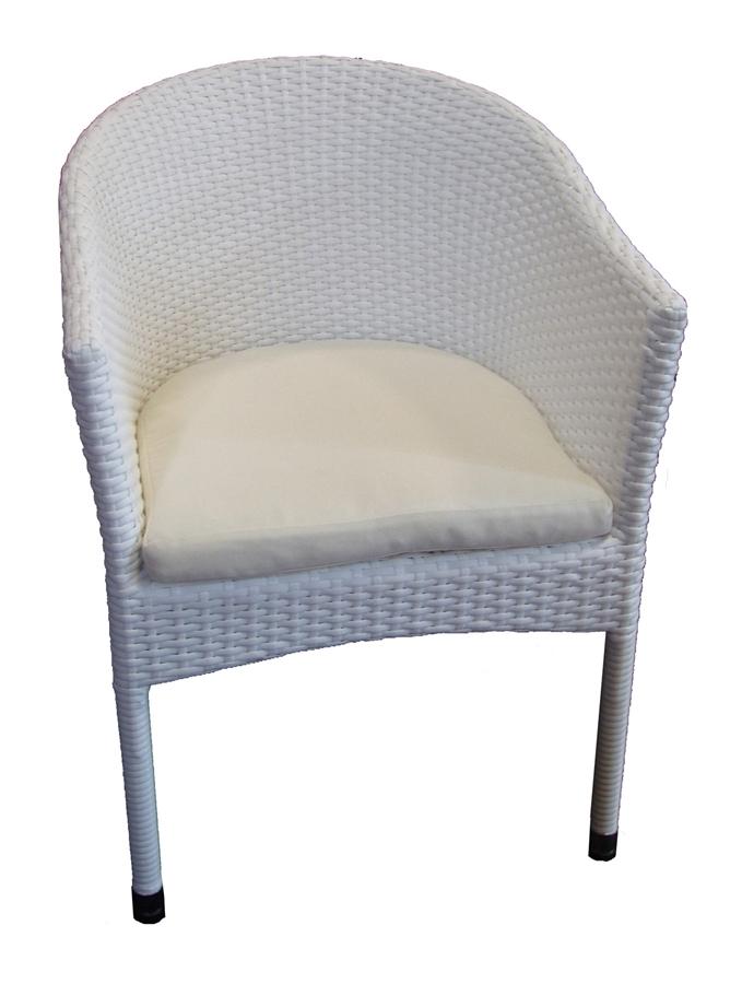 Krzesło Z Technorattanu Lama Białe