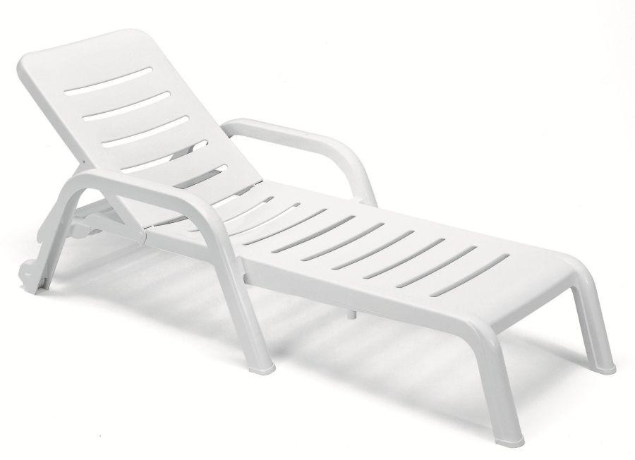 Leżak basenowy biały Casablanca